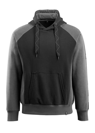 MASCOT® Regensburg - nero/antracite scuro - Felpa con Cappuccio, outfit moderno