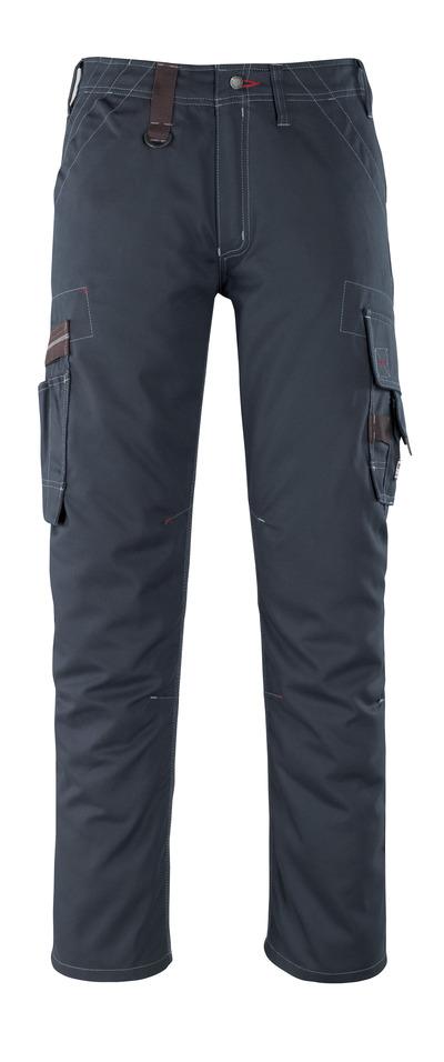 MASCOT® Rhodos - blu navy scuro - Pantaloni con tasche sulle cosce, peso ridotto