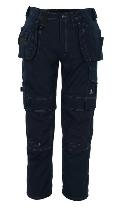MASCOT® Ronda - blu navy - Pantaloni con tasche porta-ginocchiere in CORDURA® e tasche esterne, alta resistenza all'usura