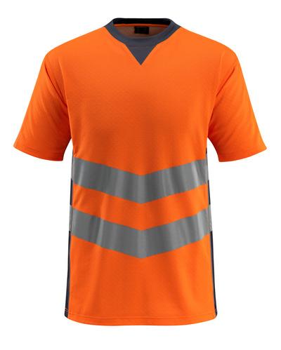 MASCOT® Sandwell - arancio hi-vis/blu navy scuro - Maglietta, outfit moderno, classe 2