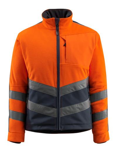 MASCOT® Sheffield - arancio hi-vis/blu navy scuro - Giacca in pile con imbottitura e fodera antivento, idrorepellente, classe 2