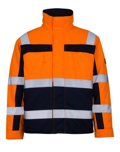 MASCOT® Timon - arancio hi-vis/blu navy* - Giacca da pilota con fodera trapuntata, classe 3