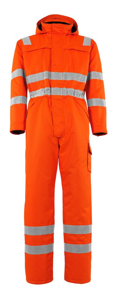 MASCOT® Tombos - arancio hi-vis - Tuta da lavoro antifreddo con fodera in pile, impermeabile MASCOTEX®, classe 3