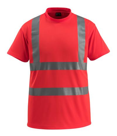 MASCOT® Townsville - rosso hi-vis - Maglietta, taglio classico, classe 2