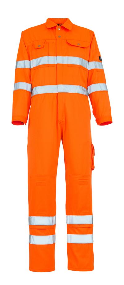 MASCOT® Utah - arancio hi-vis - Tuta da lavoro con tasche porta-ginocchiere, classe 3