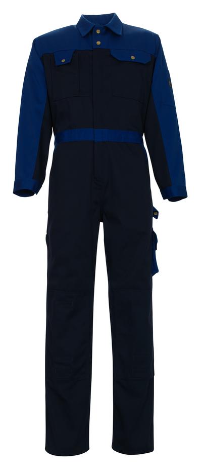 MASCOT® Verona - blu navy/blu royal - Tuta da lavoro con tasche porta-ginocchiere, alta resistenza all'usura