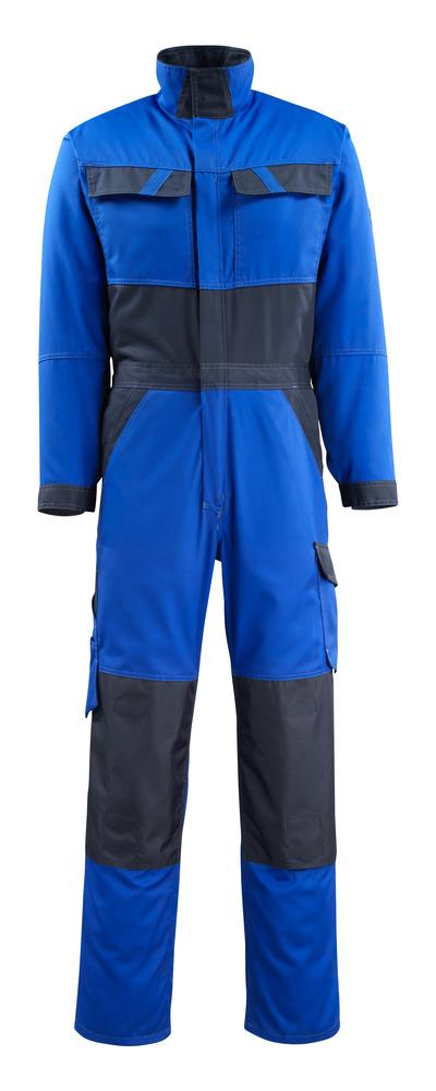 MASCOT® Wallan - blu royal/blu navy scuro - Tuta da lavoro con tasche porta-ginocchiere, peso ridotto