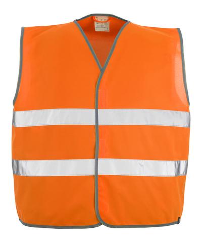 MASCOT® Weyburn - arancio hi-vis - Gilet ad alta visibilità con chiusura a velcro, classe 2