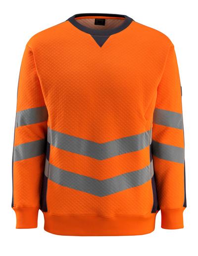 MASCOT® Wigton - arancio hi-vis/blu navy scuro - Felpa, outfit moderno, classe 3