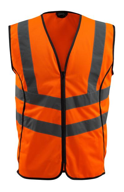 MASCOT® Wingate - arancio hi-vis - Gilet ad alta visibilità con chiusura lampoclasse 2