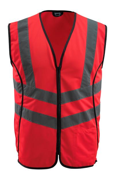 MASCOT® Wingate - rosso hi-vis - Gilet ad alta visibilità con chiusura lampoclasse 2