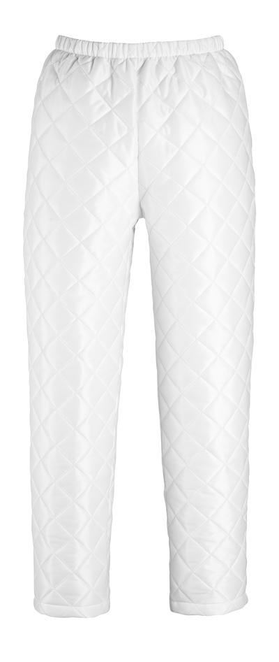 MASCOT® Winnipeg - bianco - Pantaloni termici regolabili sul piede con bottoni a pressione