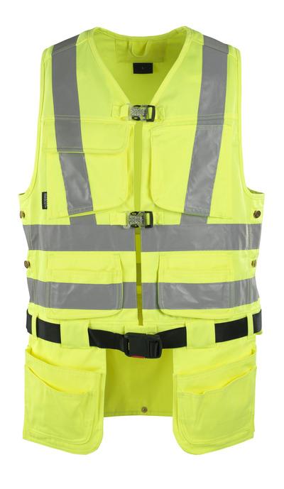 MASCOT® Yorkton - giallo hi-vis - Gilet porta attrezzi con quattro tasche esterne, classe 2/2
