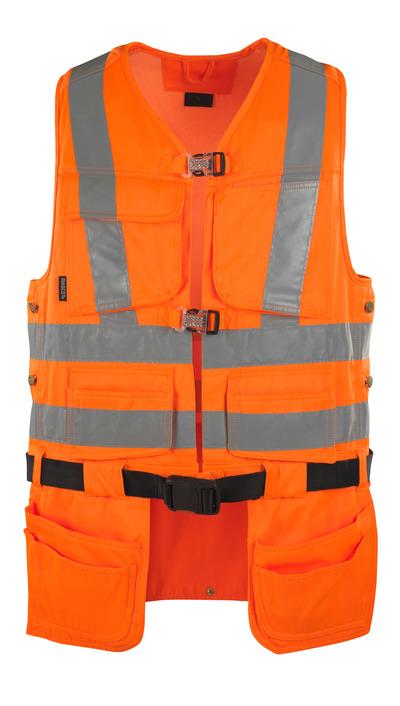 MASCOT® Yorkton - arancio hi-vis - Gilet porta attrezzi con quattro tasche esterne, classe 2/2